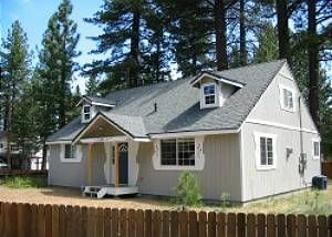 Tahoe Valley house rental - Large fenced-in yard for pets & kids & hot tub fun