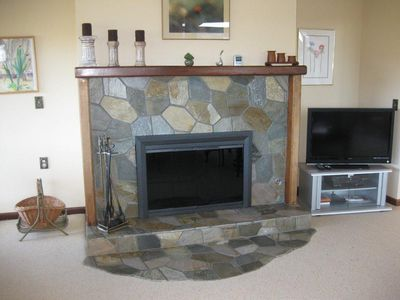 Carmel house rental - fireplace