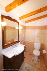 Paxi (Paxos) villa rental - Twin Bathroom with Shower