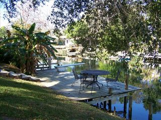 Weeki Wachee house photo - view of dock from back yard