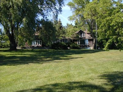 Elk Rapids house rental - Large Cedar Shake House and Lawn