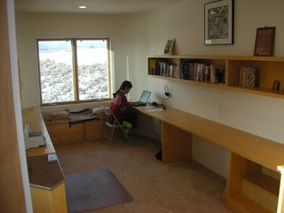 Taos house photo - The Study- wi-fi equipped and overlooking the golf course