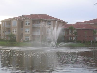 View of fountain and building 8