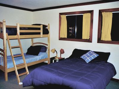 The Bunk room also have a queen bed.