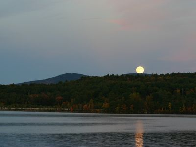 Full moon rising looking towards Gunstock