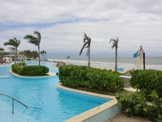 Nuevo Vallarta condo photo - View of pool in front of best sandy beach. Snack bar weekends pool front.