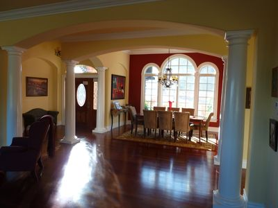 View of the dining area