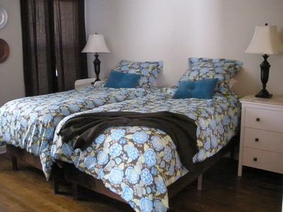 Fort Worth house rental - Back bedroom has two comfy twin beds