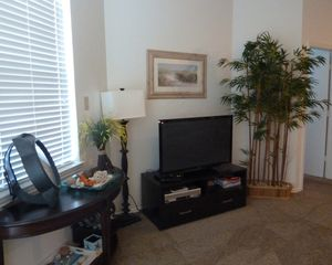 North Padre Island condo photo - Living Room has large flat screen television.