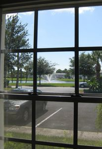 Bedroom view of the fountain