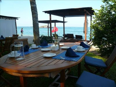 Your table at the Beach Club for lunch!