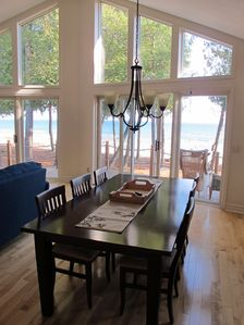 Northport house rental - Open, airy dining for 8