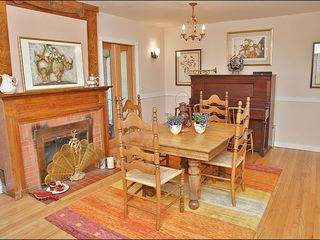 Steamboat Springs house photo - Formal Dining Room with Wood Fireplace & Piano