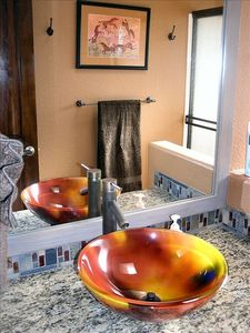 Artistic Glass Vessel Sink in Bathroom 3