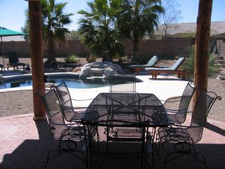 Tucson house photo - Covered Patio and back yard