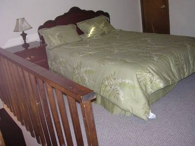 Tannersville townhome rental - Loft bedroom with queen sized bed