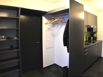 Northwest Iceland house rental - Wardrobe and kitchen