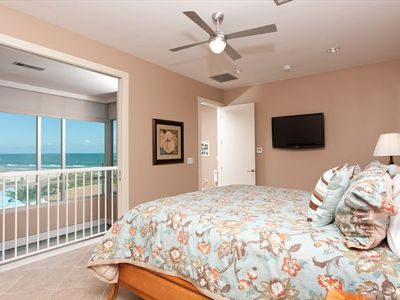 Master suite which has a door to open and close for spectacular views