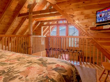 Master bedroom has an awesome view of Smoky Mountains