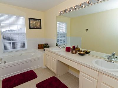 Master Bath with Soaking Tub and Separate Shower!