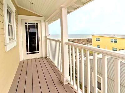 Amelia Island townhome rental - Ocean View deck off of sitting Alcove