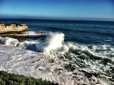 West Cliff Dr: 1 1/2 blocks to Monterey views, surfers & multi-use path