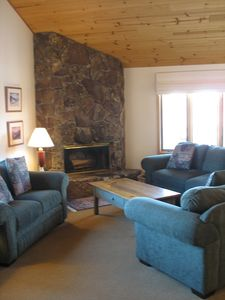 Plenty of seating to relax in front of the fire after your outdoor adventure.
