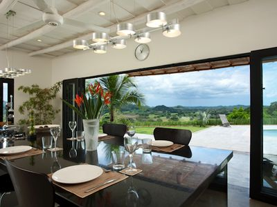 Mountain & ocean view from kitchen