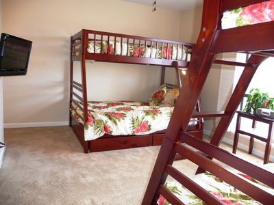 San Clemente condo rental - Bedroom 2 new bunkbeads to sleep adults and kids