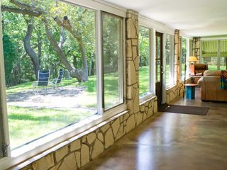 Wimberley property rental photo - Open living room with so much privacy