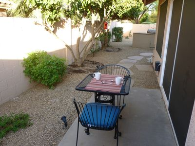 Second Patio - Great for morning coffee.
