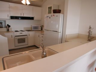 Encinitas townhome photo - Double sink with new faucet, built-in dish soap dispenser