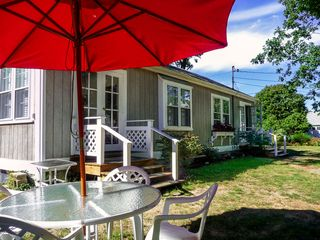 Hyannis - Hyannisport house photo - Outdoor seating, gas grill, plenty of off-street parking, and 1/4 acre
