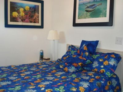 The Fish Room!!!!  Queen Bedroom with access to bathroom.