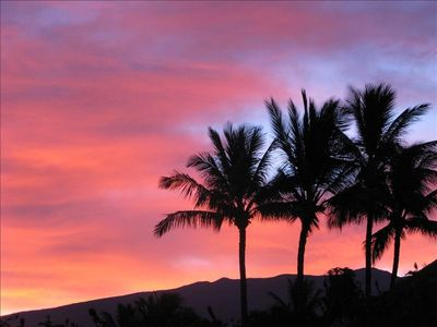 Sunrise over Haleakala from the back yard.