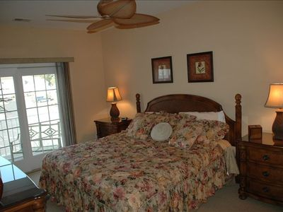 The 2nd of two MASTER bedrooms - each with their own king bed, private bath, etc