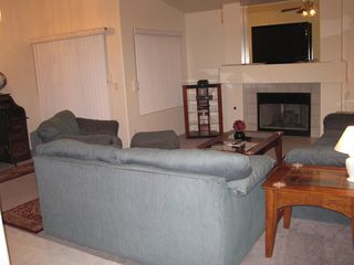 Las Vegas house photo - Living Area 3 very comfy couches, fireplace, TV, DVD, Desk, Internet