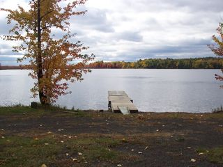 North Hero lodge photo - View of the Lake from beach - boat launch is to the right