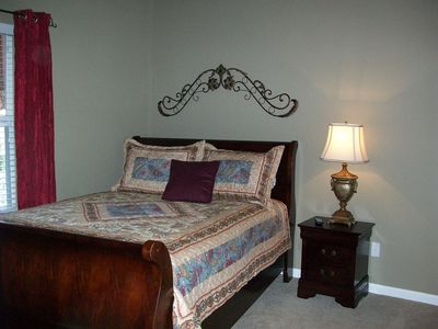 Featuring a Queen sleigh bed our 3rd bedroom assures a dreamy night!!