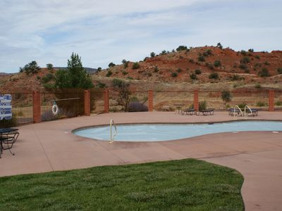 Outdoor pool at the Clubhouse