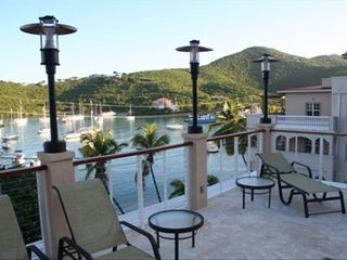 Cruz Bay condo photo - View from sun deck and your access to building