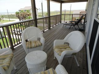 Galveston house photo - Top deck with beautiful ocean views