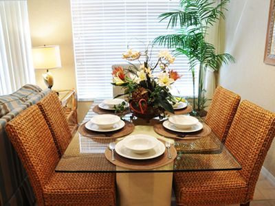 Coral Cay townhome rental - We provide all eating utensils and baby high chair