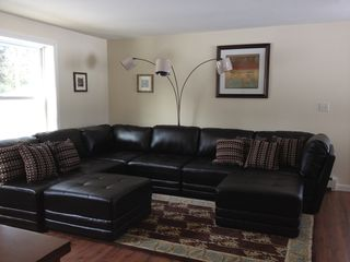Oxford house photo - Living Room with new leather sectional