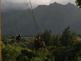 Princeville condo photo - Ziplining with Princeville Ranch Adventures - lots of fun!