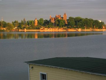 View of Boldt Castle from porch