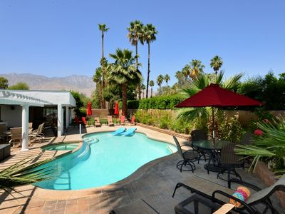Views to the San Jacinto mountains from the garden and pool area.