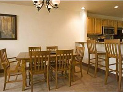 Dining Area with Room for 6, Plus Bar Seating for 2