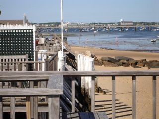 Provincetown condo photo - From the deck at low tide looking toward the Coast Guard pier