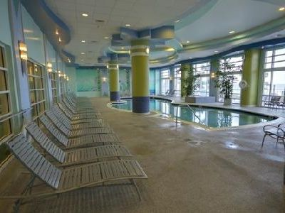 One of two heated indoor pools